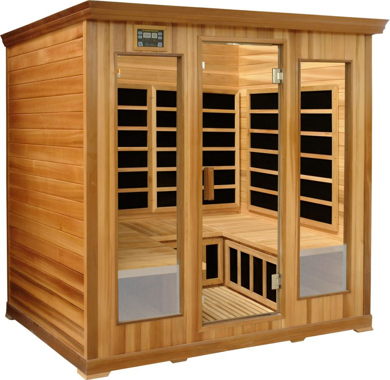 Bounce back chair - 4 To 5 Person Red Cedar Luxury Infrared Sauna Cedar Wood