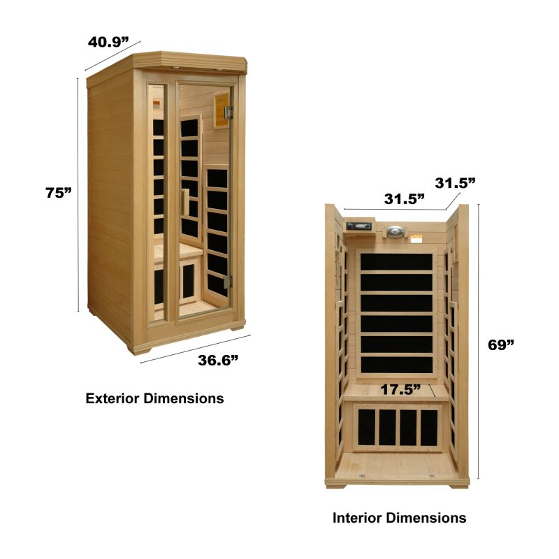 single infrared sauna The 2 person sauna : why this is the most popular far infrared sauna size what is the best sauna size to buy should solo users buy a 2 person sauna.