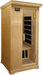 Deluxe 1 person infrared sauna hemlock
