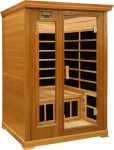 Luxury 2 Person infrared sauna: red cedar