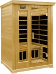 2 Person Luxury Infrared sauna: hemlock wood