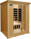 Deluxe 3 person Far Infrared Sauna:Hemlock