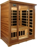Luxury 3 person Infrared sauna: red cedar