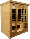 3 Person Luxury Infrared sauna: hemlock