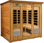 4-5 Person Infrared Luxury sauna: red cedar