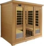 Luxury 4-5 Person Infrared Sauna: Hemlock