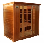 Deluxe 4 person Infrared Sauna Red Cedar