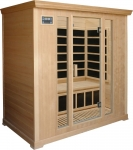 Deluxe 4 person Infrared Sauna in Hemlock