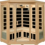 Basic 3-4 Person Corner Infrared Sauna (hemlock)