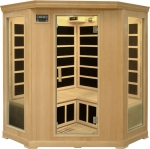 Deluxe 3-4 Person Corner Infrared Sauna Hemlock