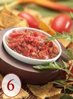 Dice fresh salsa, loaded with lycopene