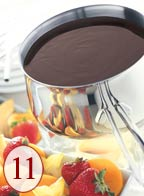 Melt cheese or chocolate for quick and easy fondues