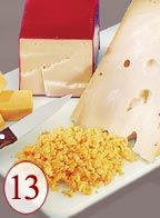 Chop cheese from coarse to fine effortlessly